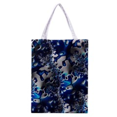Glossy Blue Fractal  All Over Print Classic Tote Bag