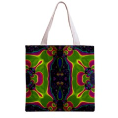 Hippie Fractal  All Over Print Grocery Tote Bag