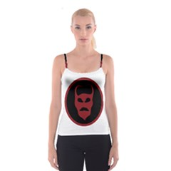 Devil Symbol Logo All Over Print Spaghetti Strap Top