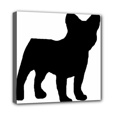 French Bulldog Silo Black Ls Mini Canvas 8  x 8  (Framed)