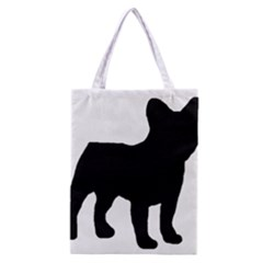 French Bulldog Silo Black Ls All Over Print Classic Tote Bag
