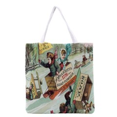 Clear The Track All Over Print Grocery Tote Bag