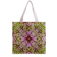 Crazy Abstract Pattern All Over Print Grocery Tote Bag