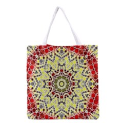 Red Yellow Kielidescope  All Over Print Grocery Tote Bag