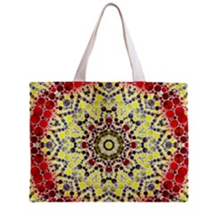 Red Yellow Kielidescope  All Over Print Tiny Tote Bag