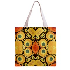 Bright Abstract Art N All Over Print Grocery Tote Bag