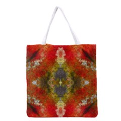 Bright Jello Abstract  All Over Print Grocery Tote Bag