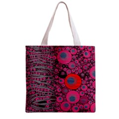 Pink Zebra Abstract All Over Print Grocery Tote Bag