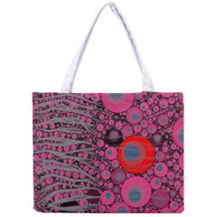 Pink Zebra Abstract All Over Print Tiny Tote Bag
