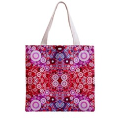 Girly Pink Polkadots  All Over Print Grocery Tote Bag