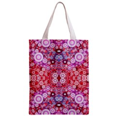 Girly Pink Polkadots  All Over Print Classic Tote Bag