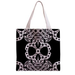 Metal Texture Silver Skulls  All Over Print Grocery Tote Bag