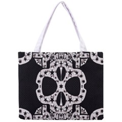 Metal Texture Silver Skulls  All Over Print Tiny Tote Bag