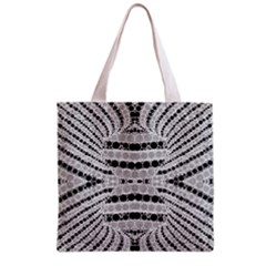Insane Black&white Textured  All Over Print Grocery Tote Bag