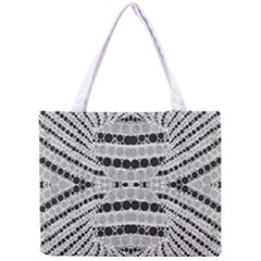 Insane Black&white Textured  All Over Print Tiny Tote Bag