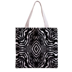 Zebra Twists  All Over Print Grocery Tote Bag