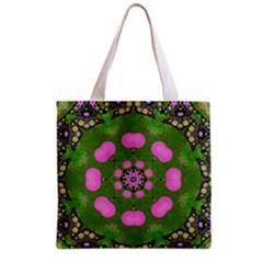 Pink Spearmint Bubble Gum  All Over Print Grocery Tote Bag