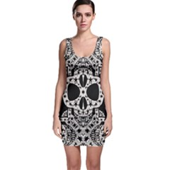 Skull Pattern Bodycon Dress