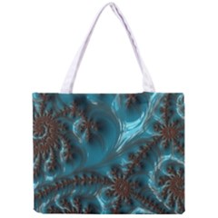 Glossy Turquoise  All Over Print Tiny Tote Bag