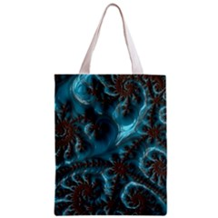 Glossy Turquoise  All Over Print Classic Tote Bag