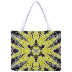 Bright Yellow Black  All Over Print Tiny Tote Bag