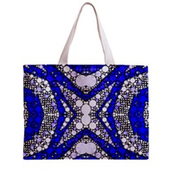 Flashy Bling Blue Silver  All Over Print Tiny Tote Bag