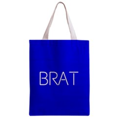 Brat Blue All Over Print Classic Tote Bag