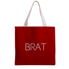 Brat Red All Over Print Grocery Tote Bag