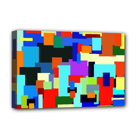 Pattern Deluxe Canvas 18  X 12  (framed)