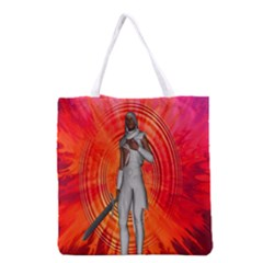 White Knight All Over Print Grocery Tote Bag