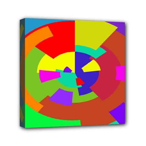 Pattern Mini Canvas 6  X 6  (framed)