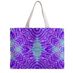 Turquoise Purple Zebra Pattern  All Over Print Tiny Tote Bag