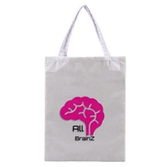 All Brains Leather  All Over Print Classic Tote Bag