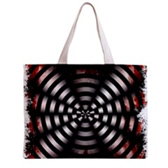 Zombie Apocalypse Warning Sign All Over Print Tiny Tote Bag