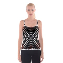 Zombie Apocalypse Warning Sign All Over Print Spaghetti Strap Top