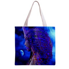 Moon Shadow All Over Print Grocery Tote Bag