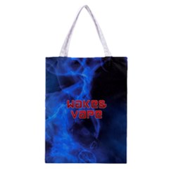 Wake&vape Blue Smoke  All Over Print Classic Tote Bag