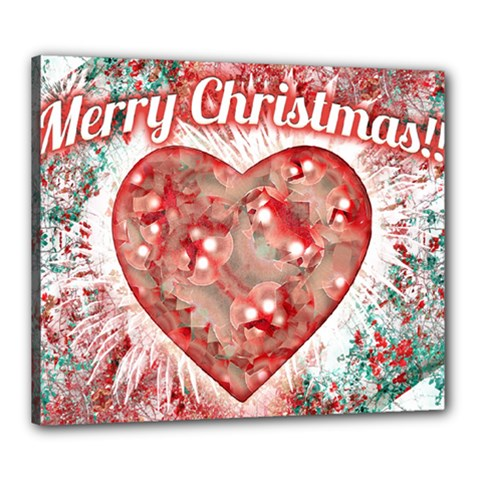 Vintage Colorful Merry Christmas Design Canvas 24  x 20  (Framed)