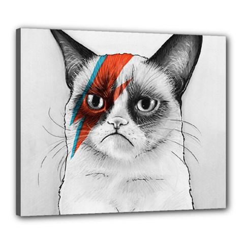 Grumpy Bowie Canvas 24  x 20  (Framed)