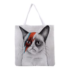 Grumpy Bowie All Over Print Grocery Tote Bag