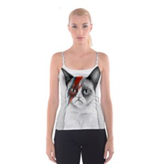 Grumpy Bowie All Over Print Spaghetti Strap Top