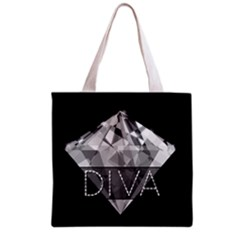 Diva Diamond  All Over Print Grocery Tote Bag