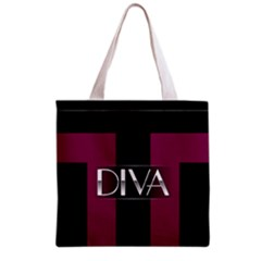 Pink Diva  All Over Print Grocery Tote Bag