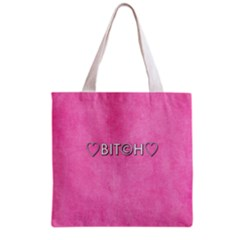 Hearts Bit?h All Over Print Grocery Tote Bag