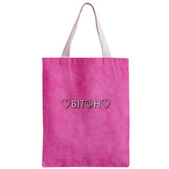 Hearts Bit?h All Over Print Classic Tote Bag