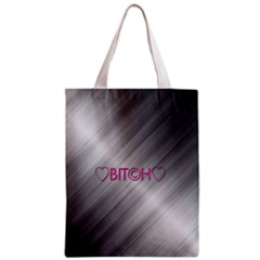 Shiny Metal Hearts Bit?h All Over Print Classic Tote Bag