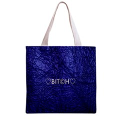 Blue Bit?h All Over Print Grocery Tote Bag