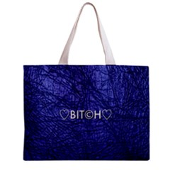 Blue Bit?h All Over Print Tiny Tote Bag