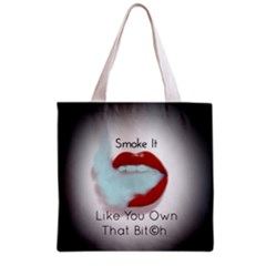 Smoke It Blk&white Lips  All Over Print Grocery Tote Bag