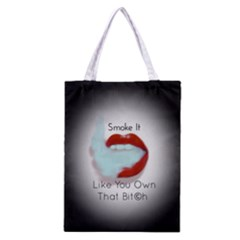 Smoke It Blk&white Lips  All Over Print Classic Tote Bag